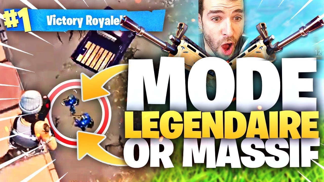 🔥NoScope de 100m? On Tente! ► MODE LÉGENDAIRE OR MASSIF ! Solo Vs Squad Fortnite Top1