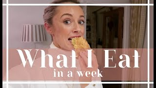 WHAT I EAT IN A WEEK // Weekly food & workout vlog // Fashion Mumblr