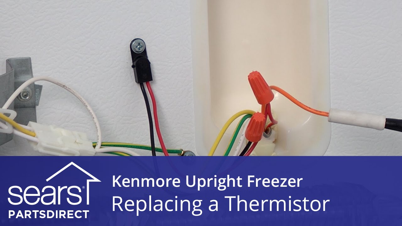 how to replace a kenmore upright freezer thermistor