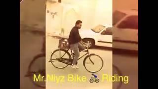 Funny Bicycle Riding in Qatar By Niyaz