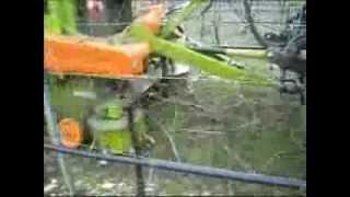Rotopressa Columbia R98 Wolagri al lavoro su tralci di vite