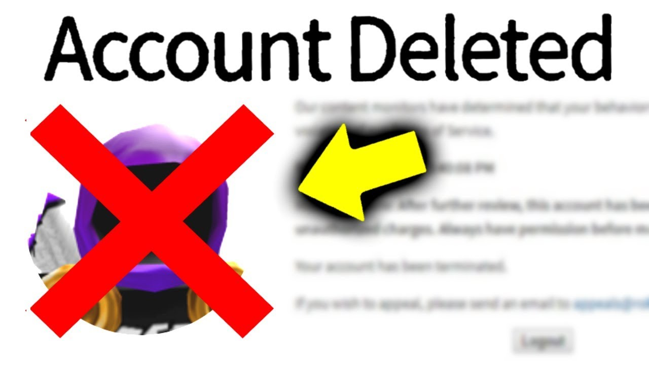 Roblox Deleted My Account I M Banned Forever Youtube