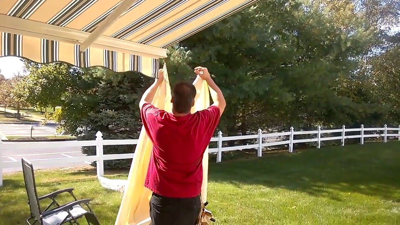 SunSetter Awning With Side Panel Wall Twp. Brielle, Manasquan, Sea Girt  Southern Monmouth County NJ   YouTube