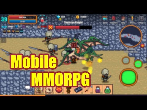 Pixel Knights Online - Classic Openworld Mobile MMORPG Gameplay Footage