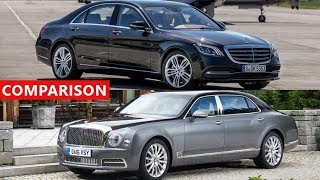 2018 Mercedes-Maybach S650 vs 2018 Bentley Mulsanne Comparison - Amazing Luxury Sedans !