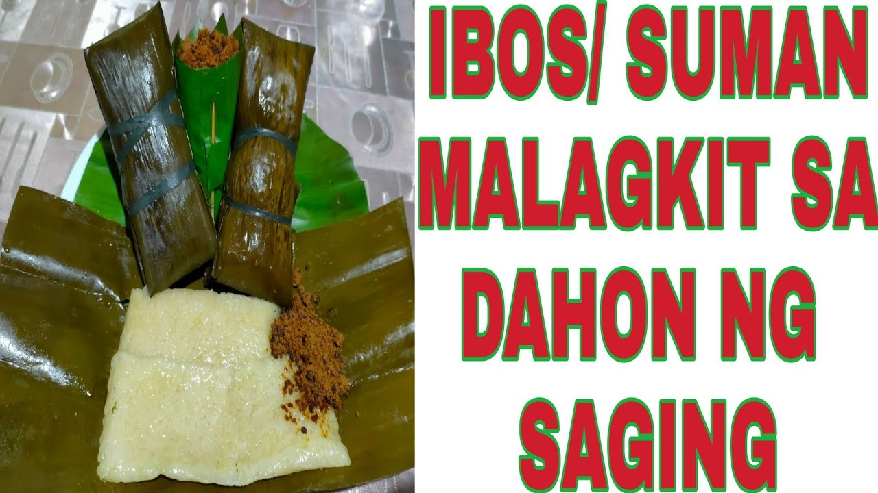 Download HOW TO MAKE & WRAP IBOS/SUMAN IN BANANA LEAVES| #WHOLE PROCESS OF MAKING SUMAN MALAGKIT #VERY EASY