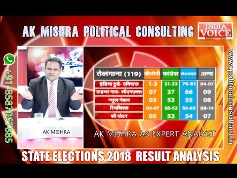 11 DECEMBER 2018- ELECTION RESULTS LIVE COVERAGE  BY AK MISHRA