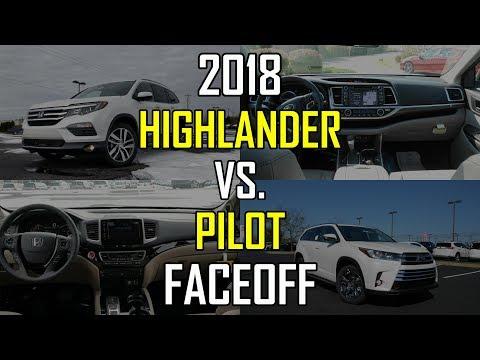 2018 Honda Pilot Elite vs. 2018 Toyota Highlander Limited Platinum: Faceoff Comparison