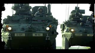 US Army Europe 2d Cavalry Regiment   Command Variant Strykers in Grafenwoehr Germany