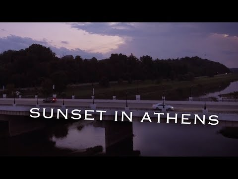 Ohio University | Sunset from the Sky in Athens