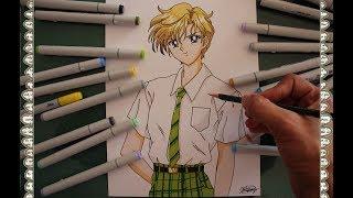 Cómo Dibujar a Haruka Tenou Sailor Uranus How To Draw Sailor Moon S Speed Drawing | CarlosNaranjoTV