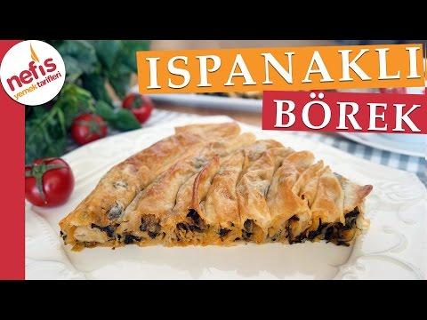 Hazır Yufkadan Ispanaklı Börek Tarifi - Kolay Börek Tarifleri - Nefis Yemek Tarifleri