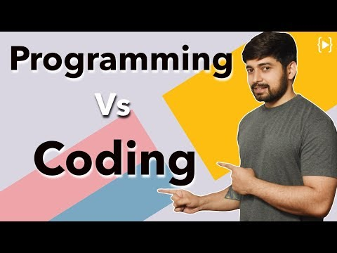 What is the difference between programming and coding