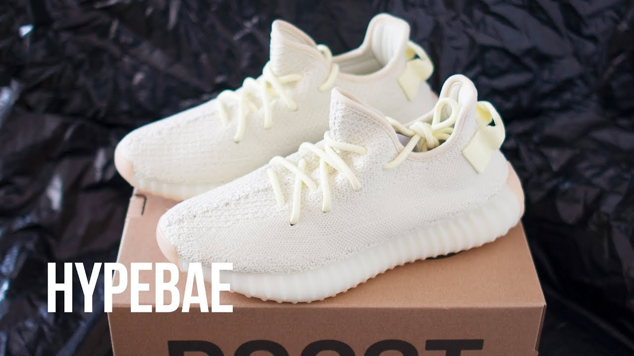 "d9fbf952c8bce YEEZY BOOST 350 V2 ""Butter"" Unboxing - YouTube"
