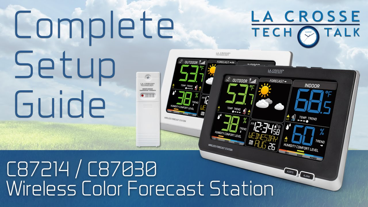 C87214 C87030 Wireless Color Forecast Station Setup Guide Youtube