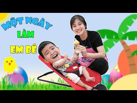 Trải Nghiệm Một Ngày Làm Em Bé ♥ Min Min TV Minh Khoa
