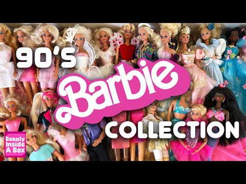 My 90's Barbie Doll Collection! - Beauty Inside A Box