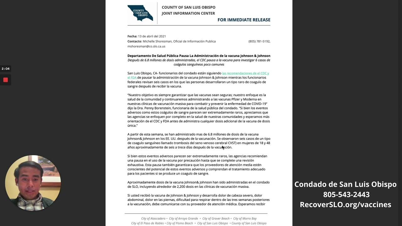 Pausan la vacuna Johnson y Johnson- Mensaje en Mixteco de San Juan Piñas