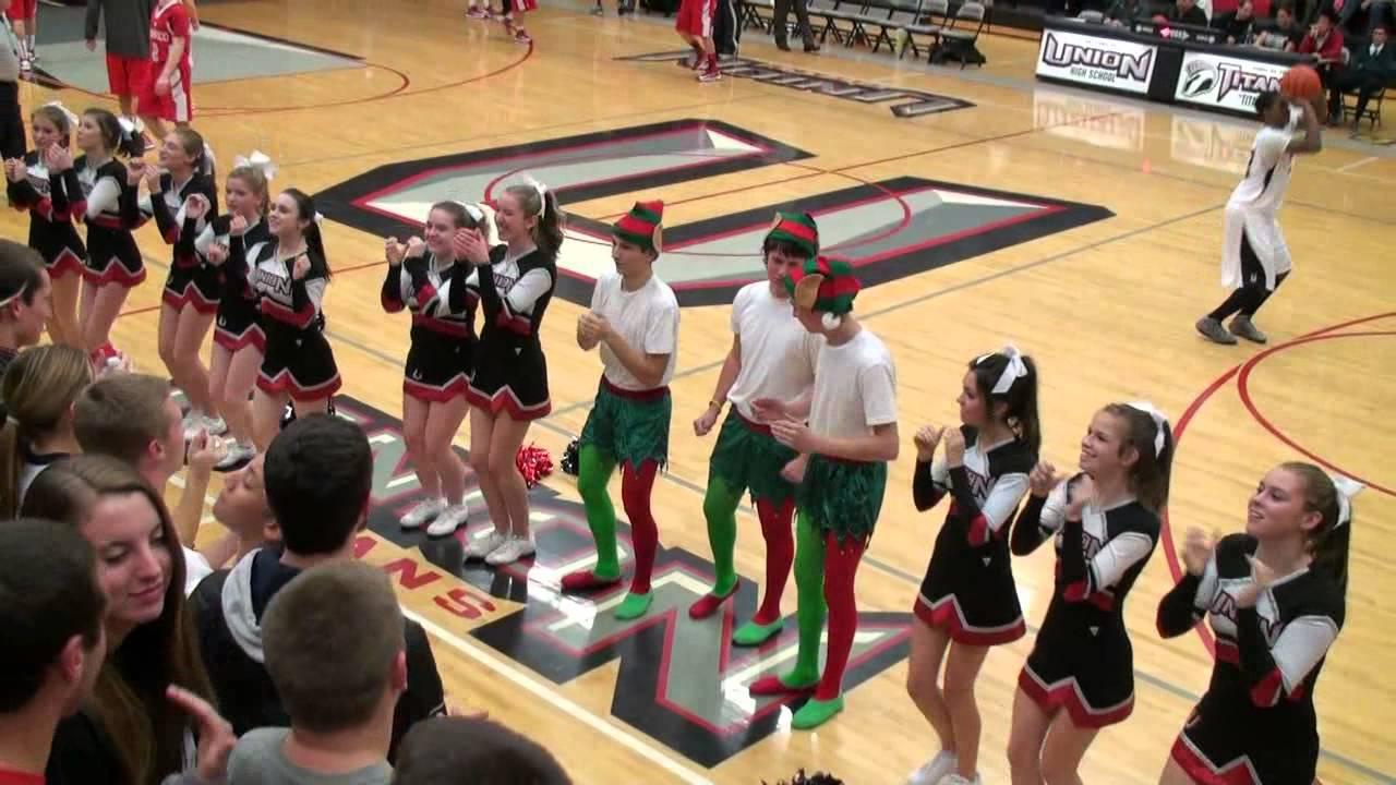 2012_11_30 UHS Cheer at Mens Varsity Basketball - YouTube