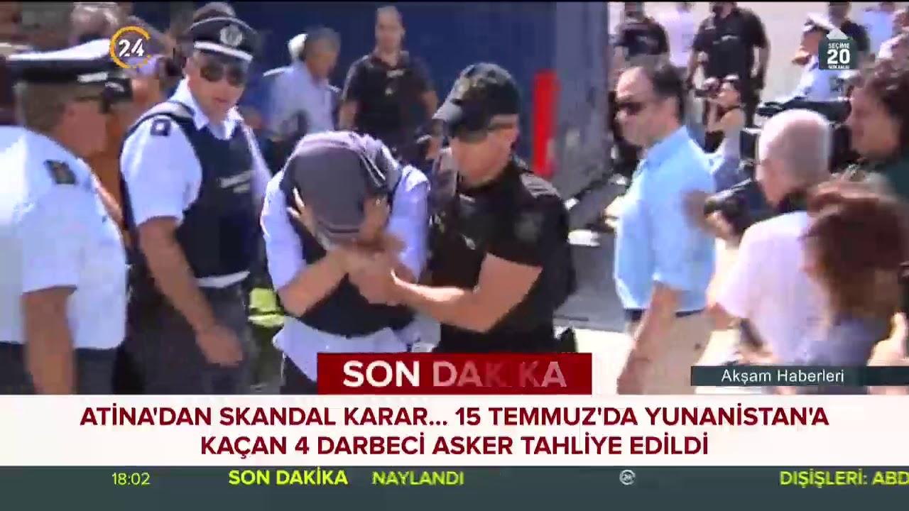 Yunanistana kaçan 4 darbeci asker daha tahliye edildi