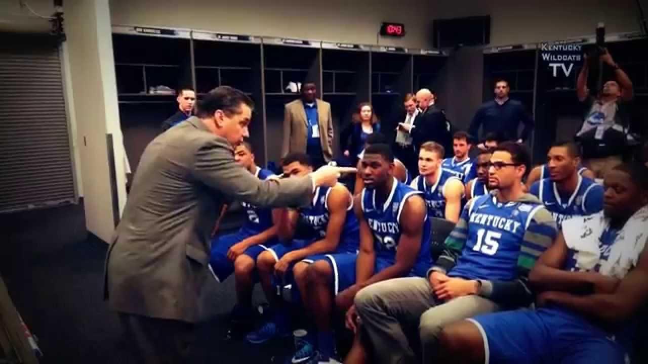 Drake Congratulates Kentucky Wildcats In The Locker Room