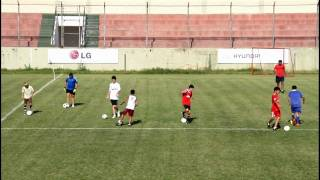 Soccer Players In Practice At Tyre Stadium Lebanon