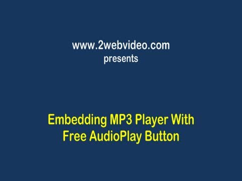 Embed MP3 Player In Your Website, Easy & Fast