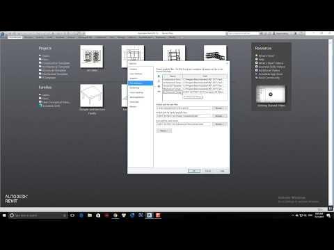 Cách setup thư viện cho Revit 2017