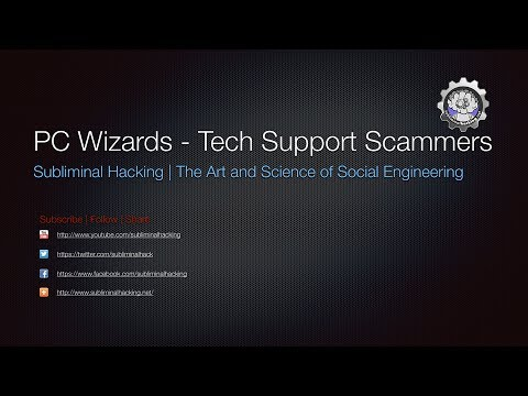 PC Wizard - Tech Support Scammers by Subliminal Hacking