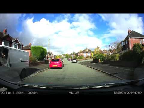 idiot van driver Newcastle Under Lyme