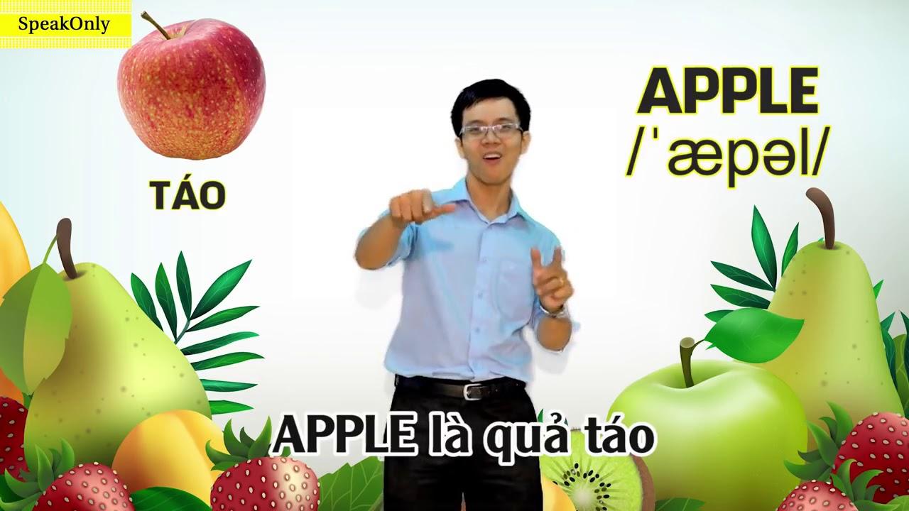 """Học tiếng anh các loại trái cây  với """" cô gái m52"""""""