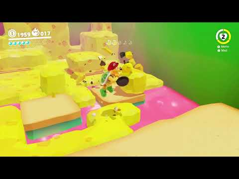 Super Mario Odyssey - Luncheon Kingdom Moon #43: Excavate n Search the Cheese Rocks | Moon Shards 🌙