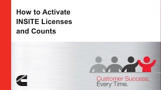 How to Activate INSITE Licenses and Counts