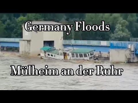 Germany Floods | Boot Sinkt Hochwasser in Mülheim an der Ruhr | Unwetter Mülheim an der Ruhr/பாலினி