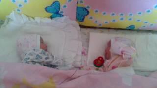 Новорожденные дети. Новорожденные близнецы Варенька и Анечка. Newborn children. Newborn twins