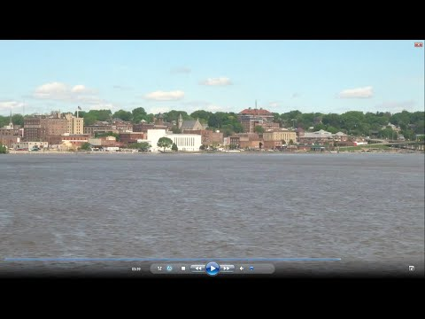 Train across USA: #10 Amtrak California Zephyr--Across Iowa & the Mississippi to Chicago 2016-05-12