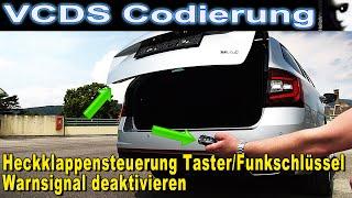 VCDS Codierung Heckklappen Steuerung Taster Funkschlüssel | Warnsignal deaktivieren