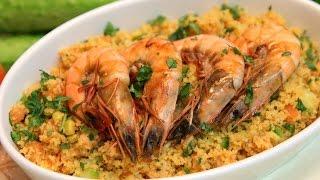 Couscous Shrimp Salad Recipe - Cookingwithalia - Episode 364