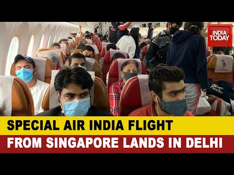 'Vande Bharat Mission': Air India Flight From Singapore Lands In Delhi; Over 200 Indians Onboard