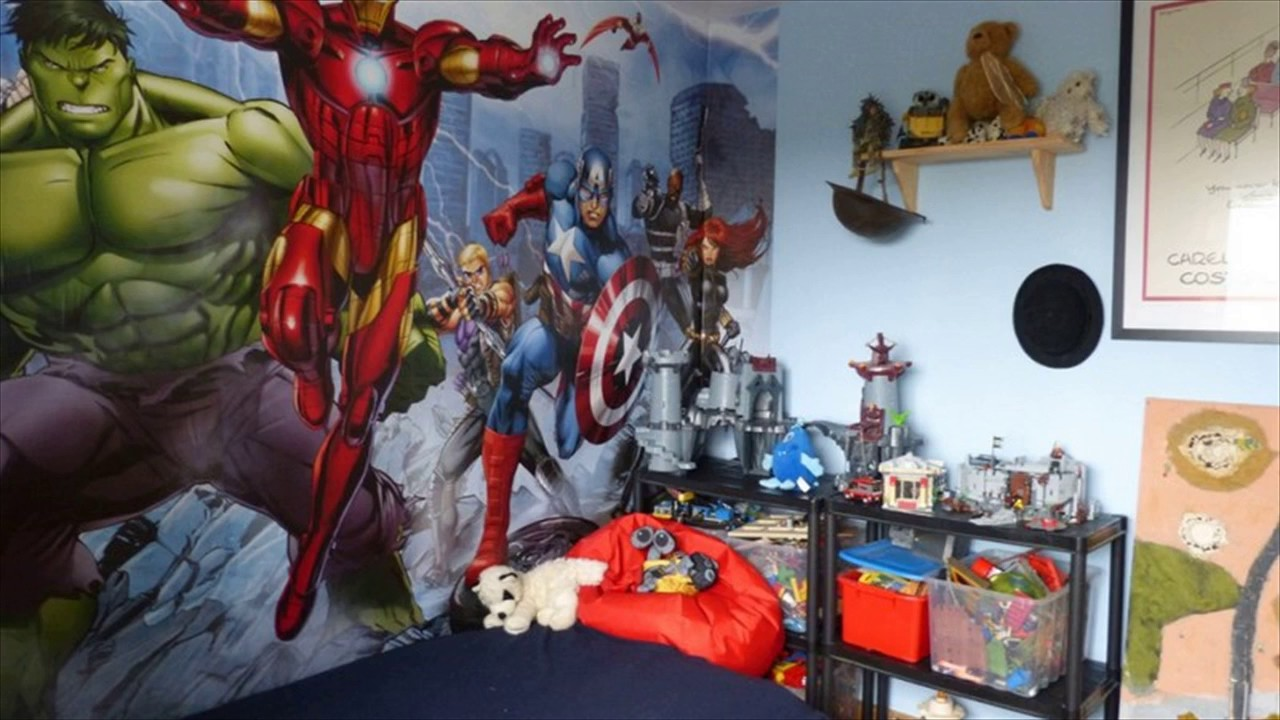 Superman Themed Bedroom superman themed room for kids - youtube