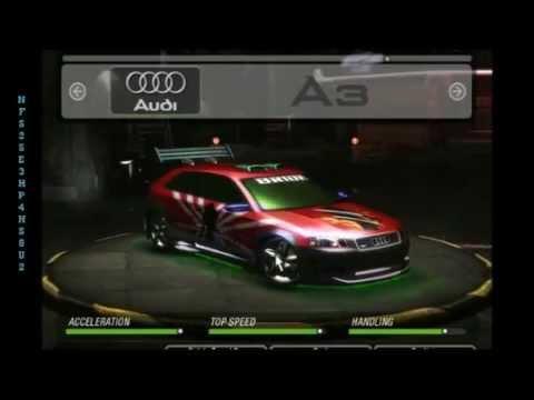 need for speed underground cars list