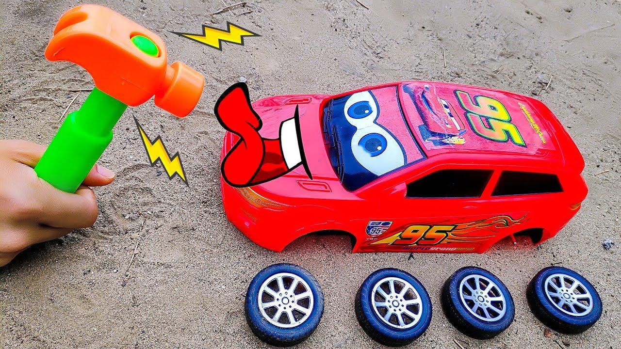 Lắp ráp xe ô tô đua Lightning Mcqueen – đồ chơi trẻ em BIBI TOYS