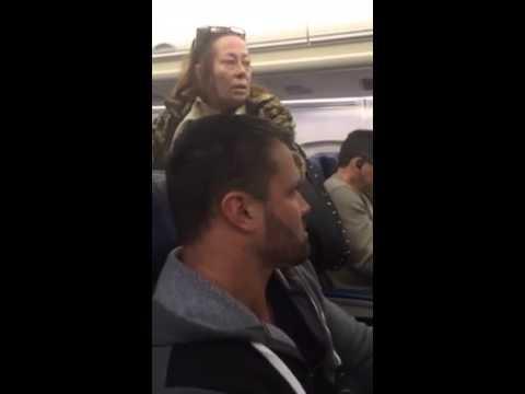 racist lady plane freakout