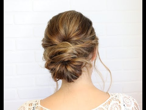 Classy Messy Updo Hairstyle