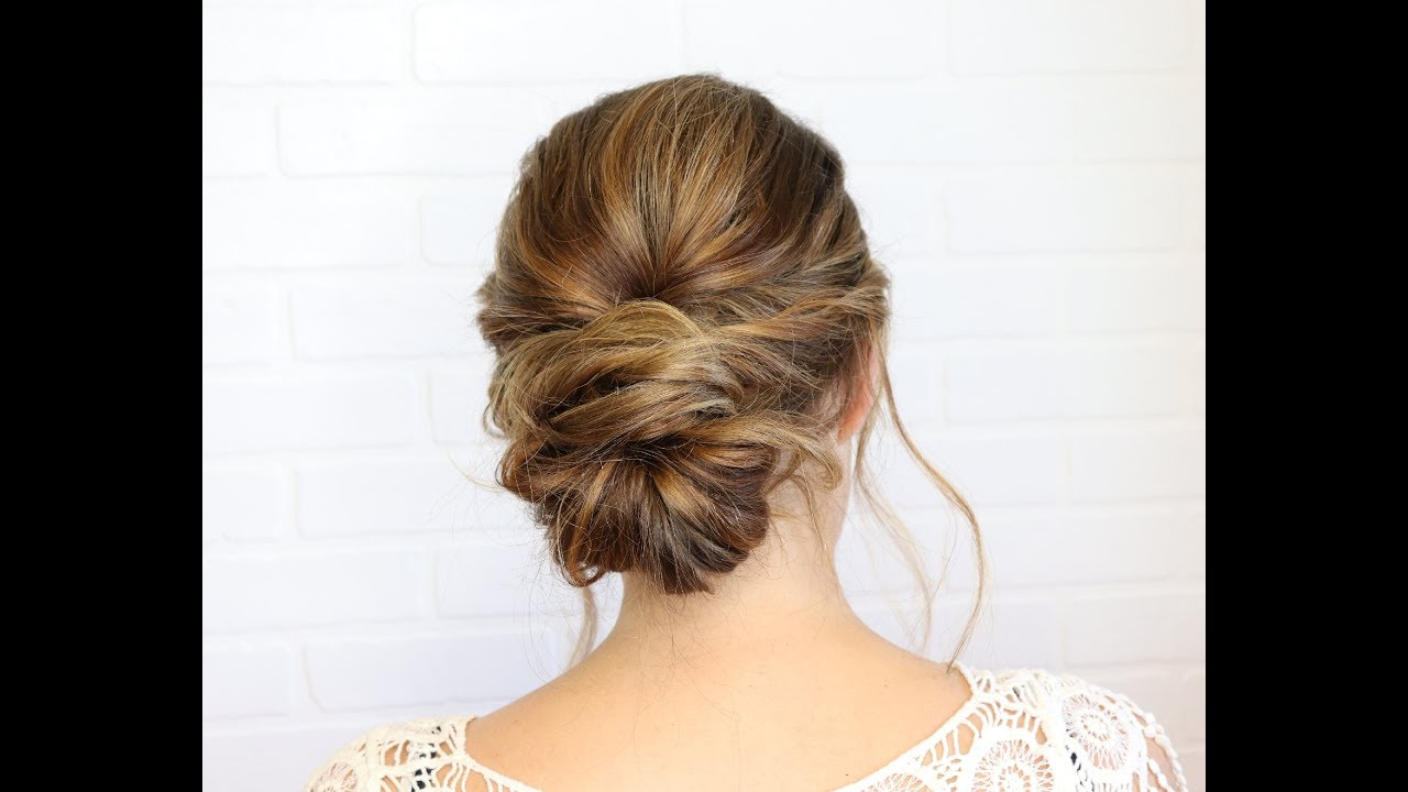 36 Messy Wedding Hair Updos: Classy Messy Updo