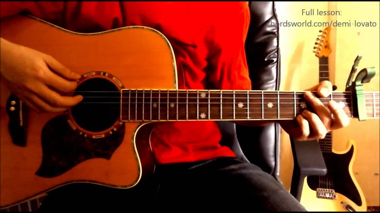 Nightingale Chords Demi Lovato Chordsworld Guitar Tutorial
