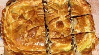 Бабушкин пирог с мясом и грибами. Курник