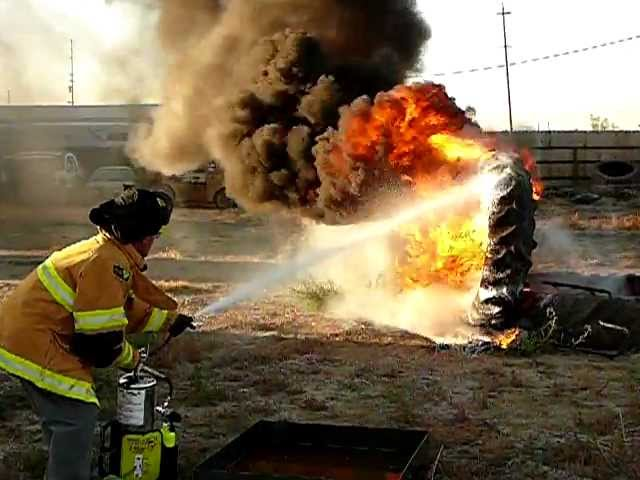 Tri-Max 3 Tire Fire demonstration