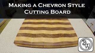 Making Of A Chevron Style End-grain Cuttingboard