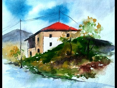 Painting A House Landscape with Watercolor | Paint with David